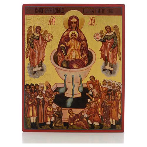 Ikona rosyjska Matka Boża źródło życia 'Żywe źródło' 1