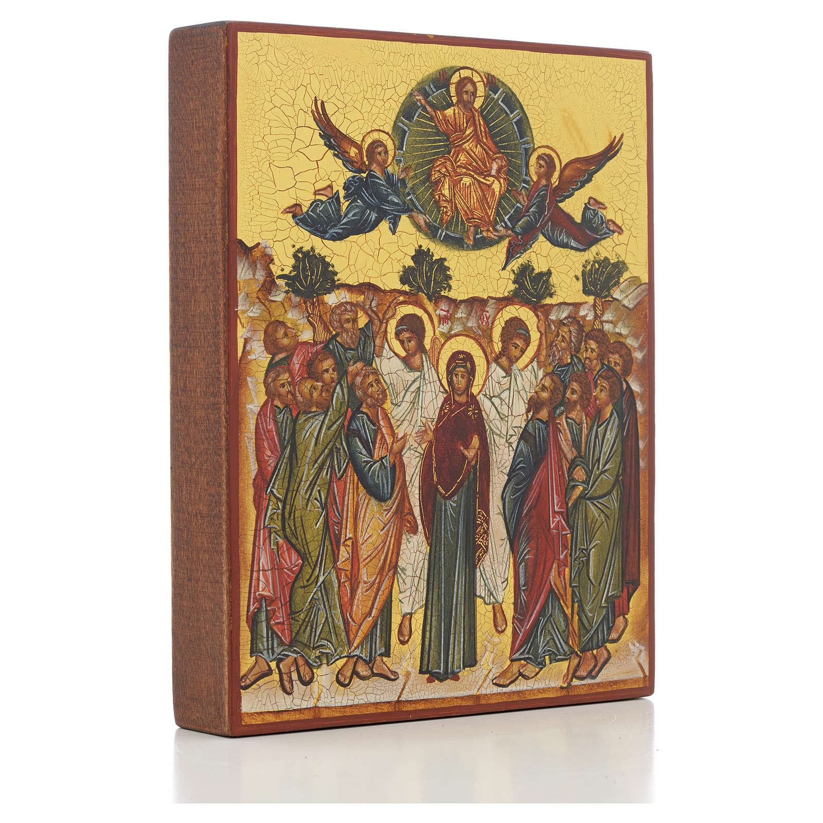 Russian icon, Assumption of Mary 14x11cm 4