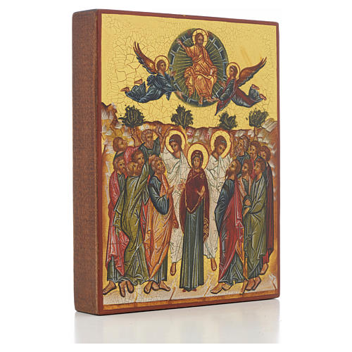Russian icon, Assumption of Mary 14x11cm 2