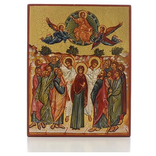 Russian icon, Assumption of Mary 14x11cm 1