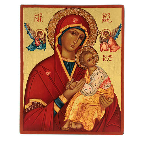 Russian icon, Mother of God Strastnaja (of the Passion) 14x10 cm 1