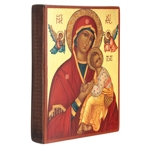 Russian icon, Mother of God Strastnaja (of the Passion) 14x10 cm 3