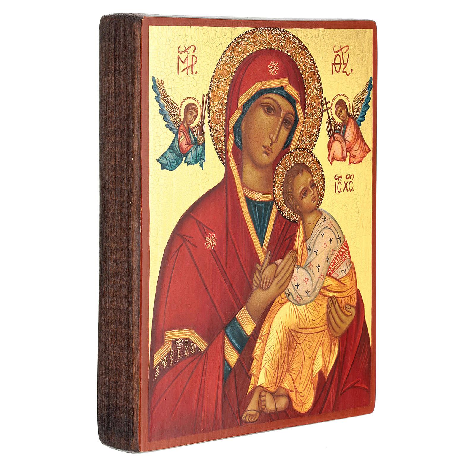 Icono rusa madre de Dios Strastnaja (de la Pasión) 14x10 cm 4