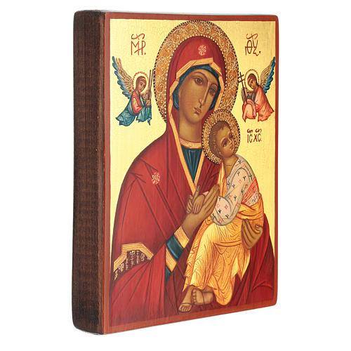 Icono rusa madre de Dios Strastnaja (de la Pasión) 14x10 cm 3