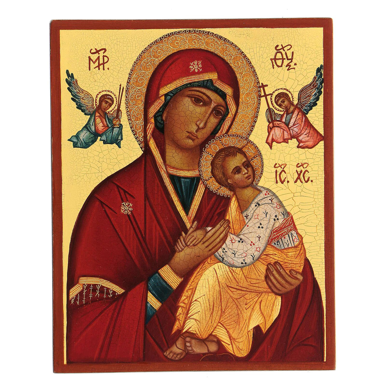 Icona russa Madre di Dio Strastnaja (della passione) 14x10 cm 4