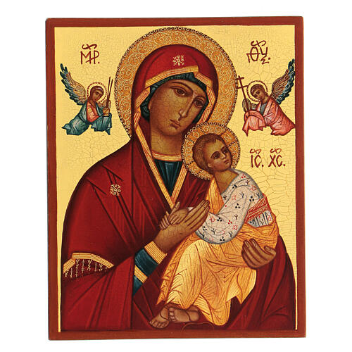 Icona russa Madre di Dio Strastnaja (della passione) 14x10 cm 1