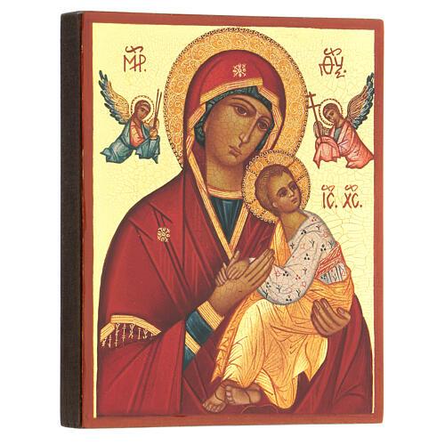 Icona russa Madre di Dio Strastnaja (della passione) 14x10 cm 3