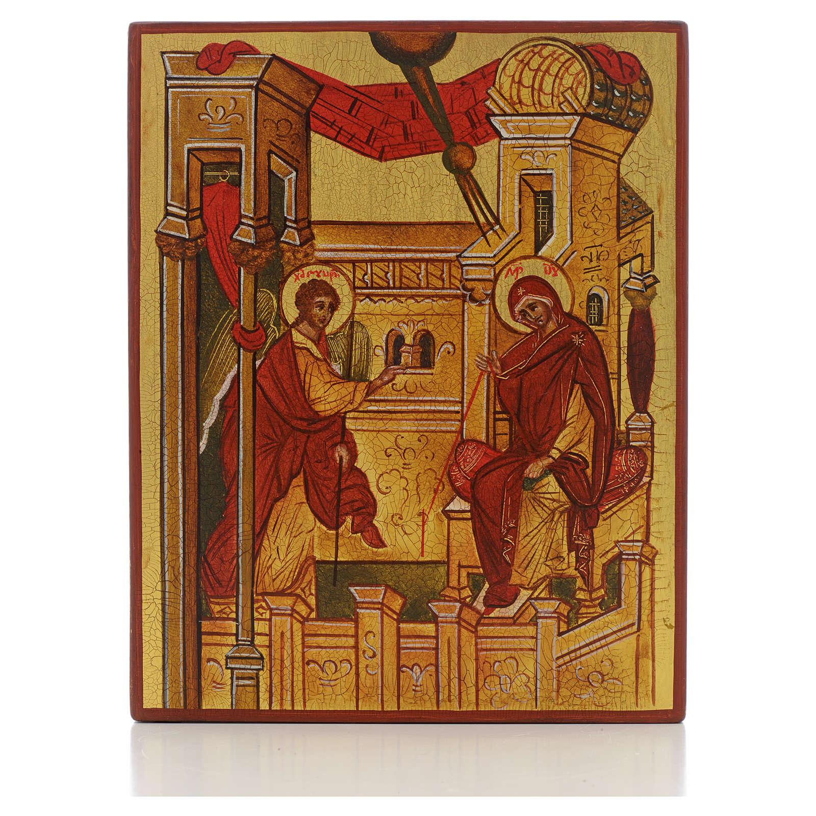 Icono rusa Anunciación de Rublev 4
