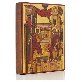 Russian icon, Annunciation of Rublev s2