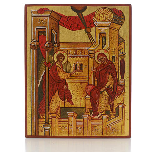 Russian icon, Annunciation of Rublev 1