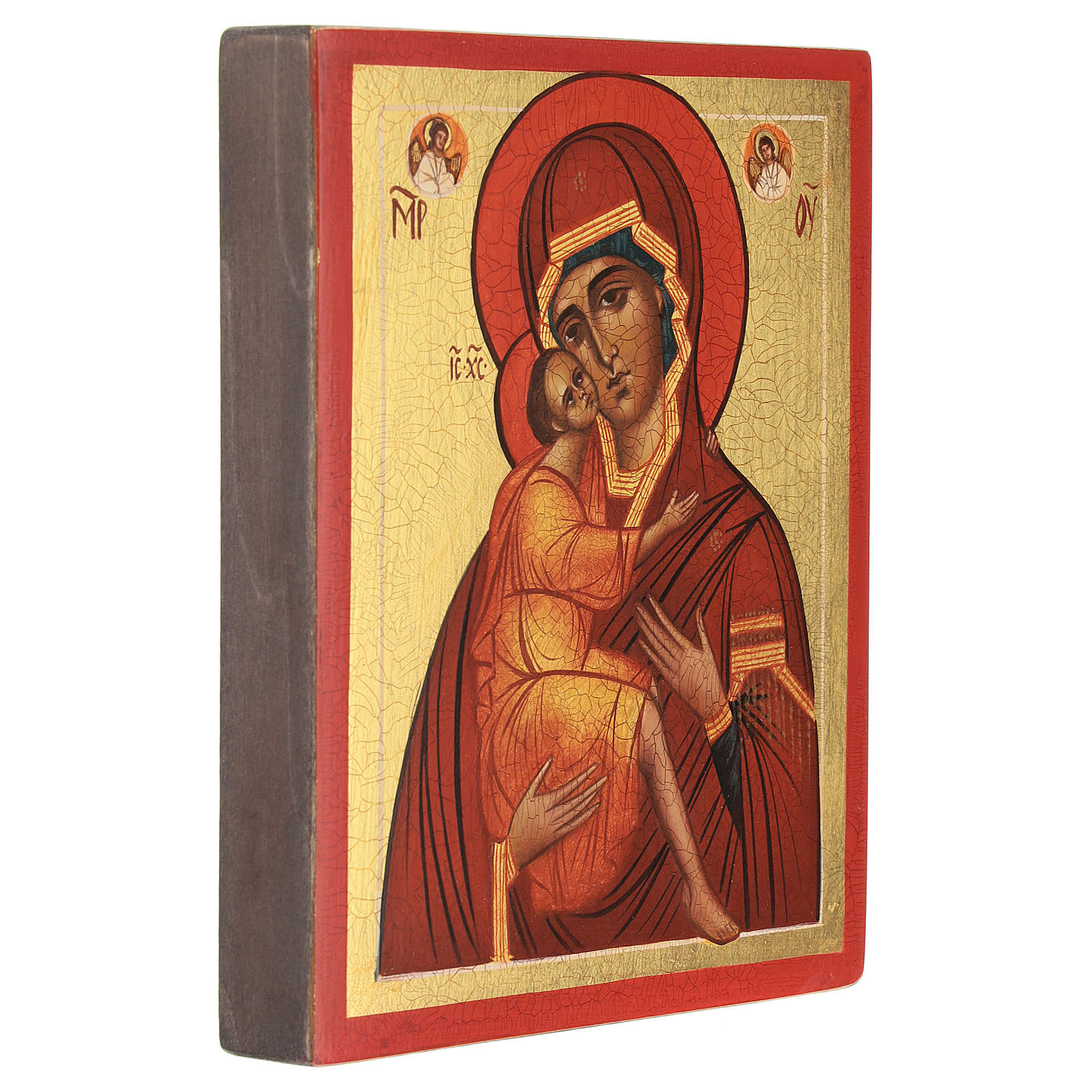 Russian icon, Our Lady of Belozersk 14x10 cm 4