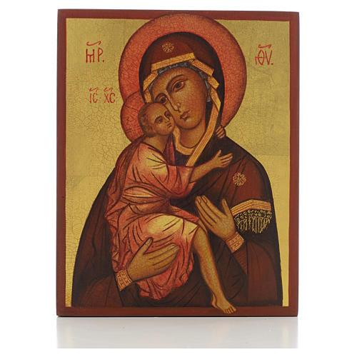 Icona russa Madonna di Belozersk 14x11 cm 1