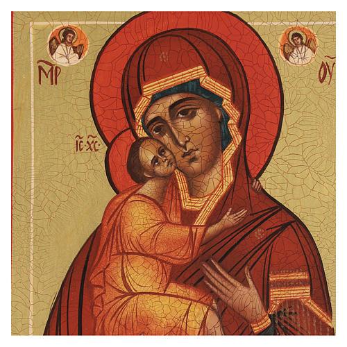 Icona russa Madonna di Belozersk 14x10 cm 2