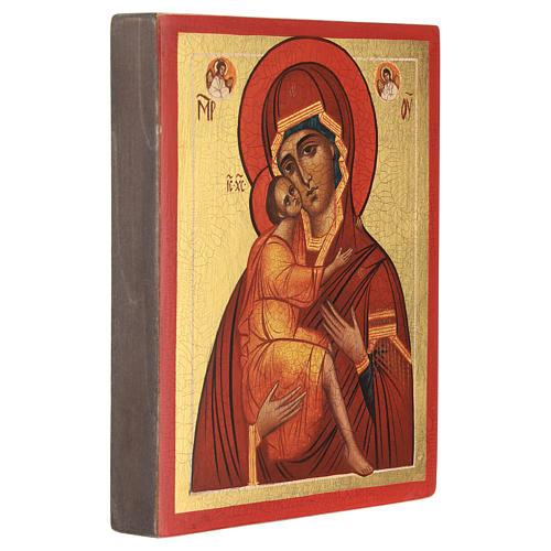 Icona russa Madonna di Belozersk 14x10 cm 3