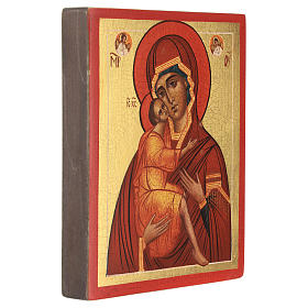Ikona rosyjska Matka Boża Biełozierska 14x10 cm s3