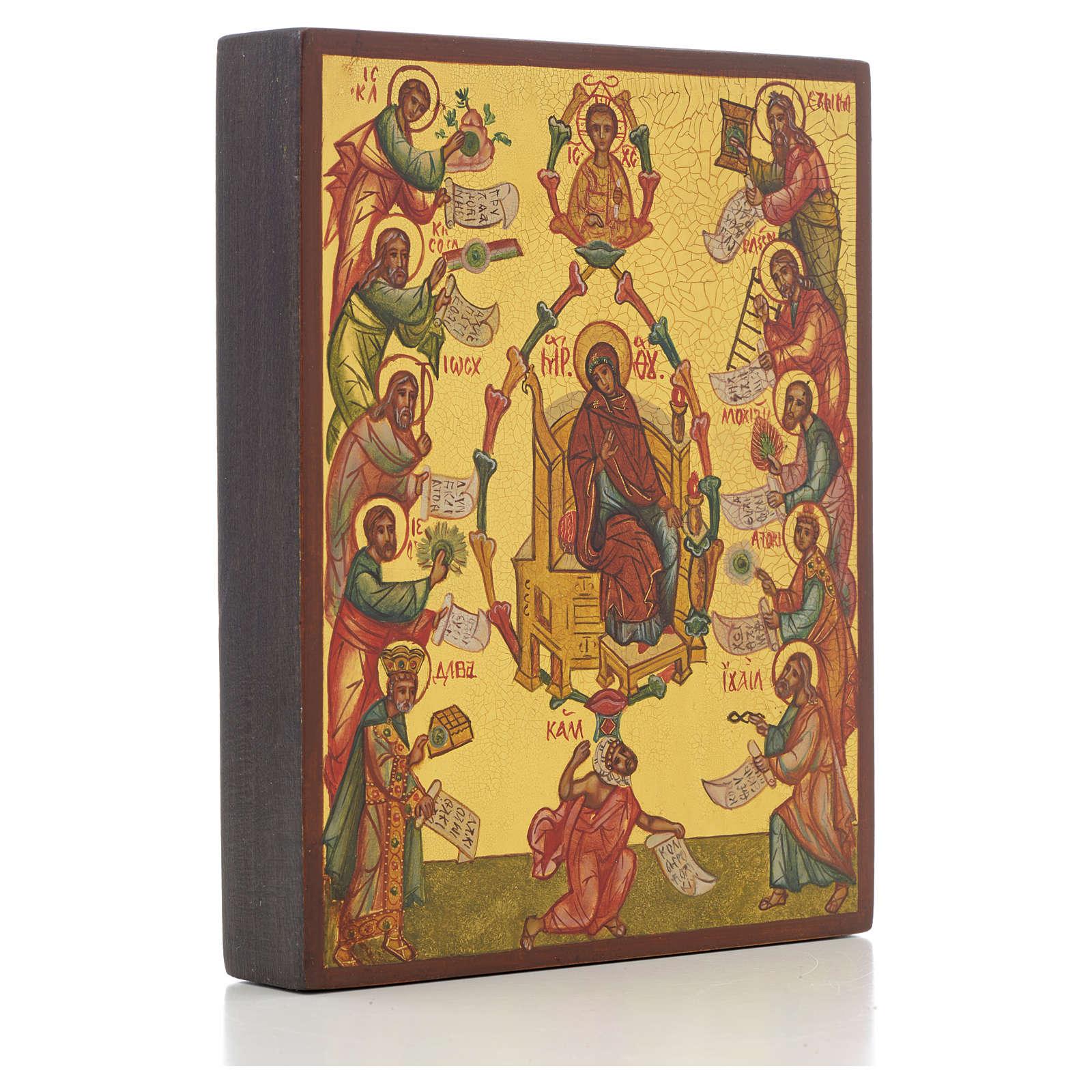 Icono rusa La Alabanza de la Madre de Dios 4