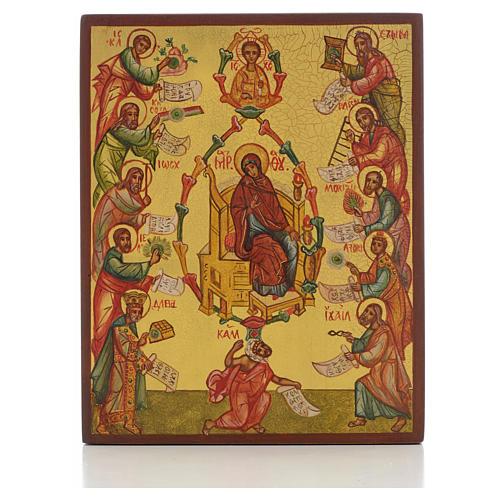 Icône russe Louange acathiste de la Mère de Dieu 1