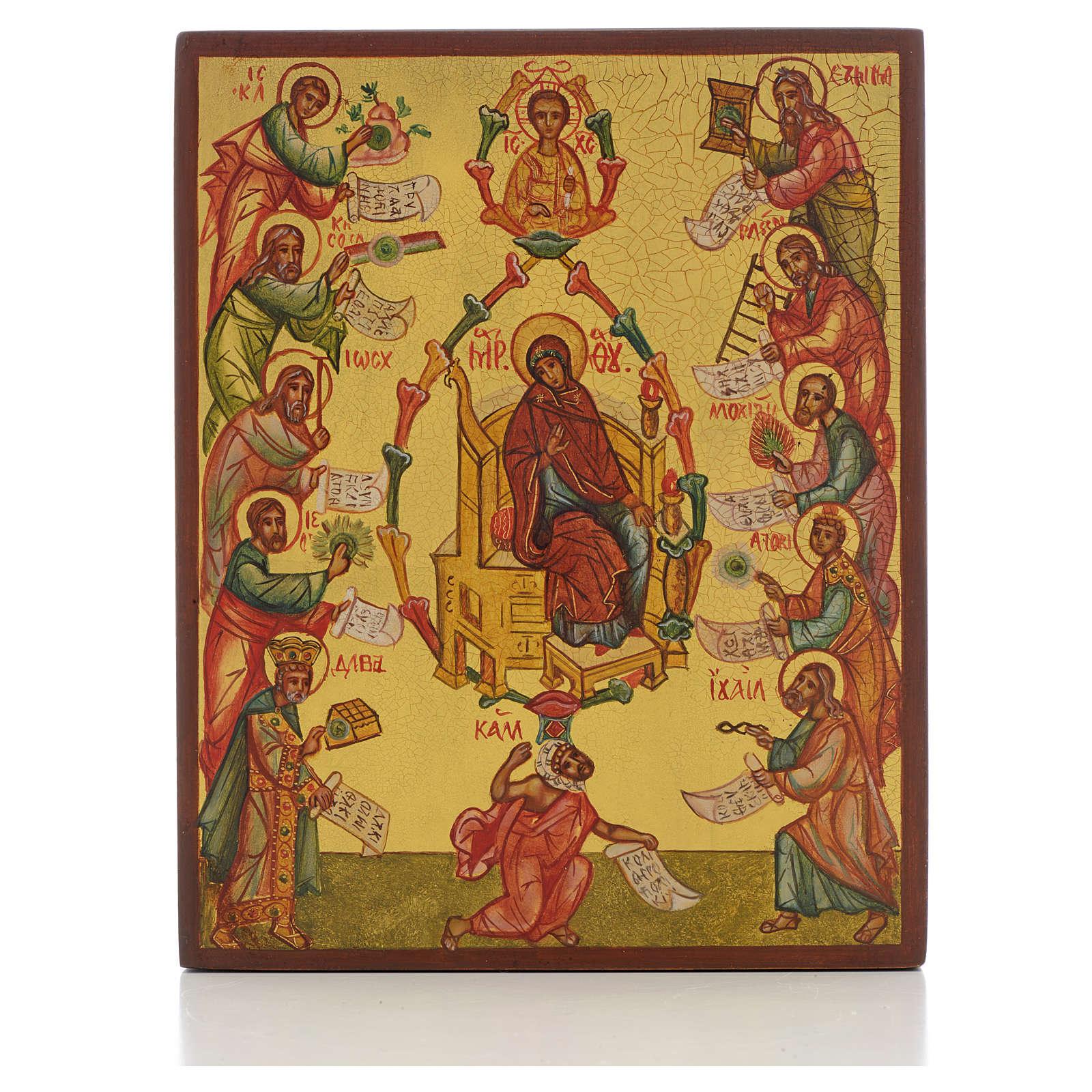 Icona russa Le Lodi della Madre di Dio 4