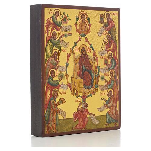 Icona russa Le Lodi della Madre di Dio 2