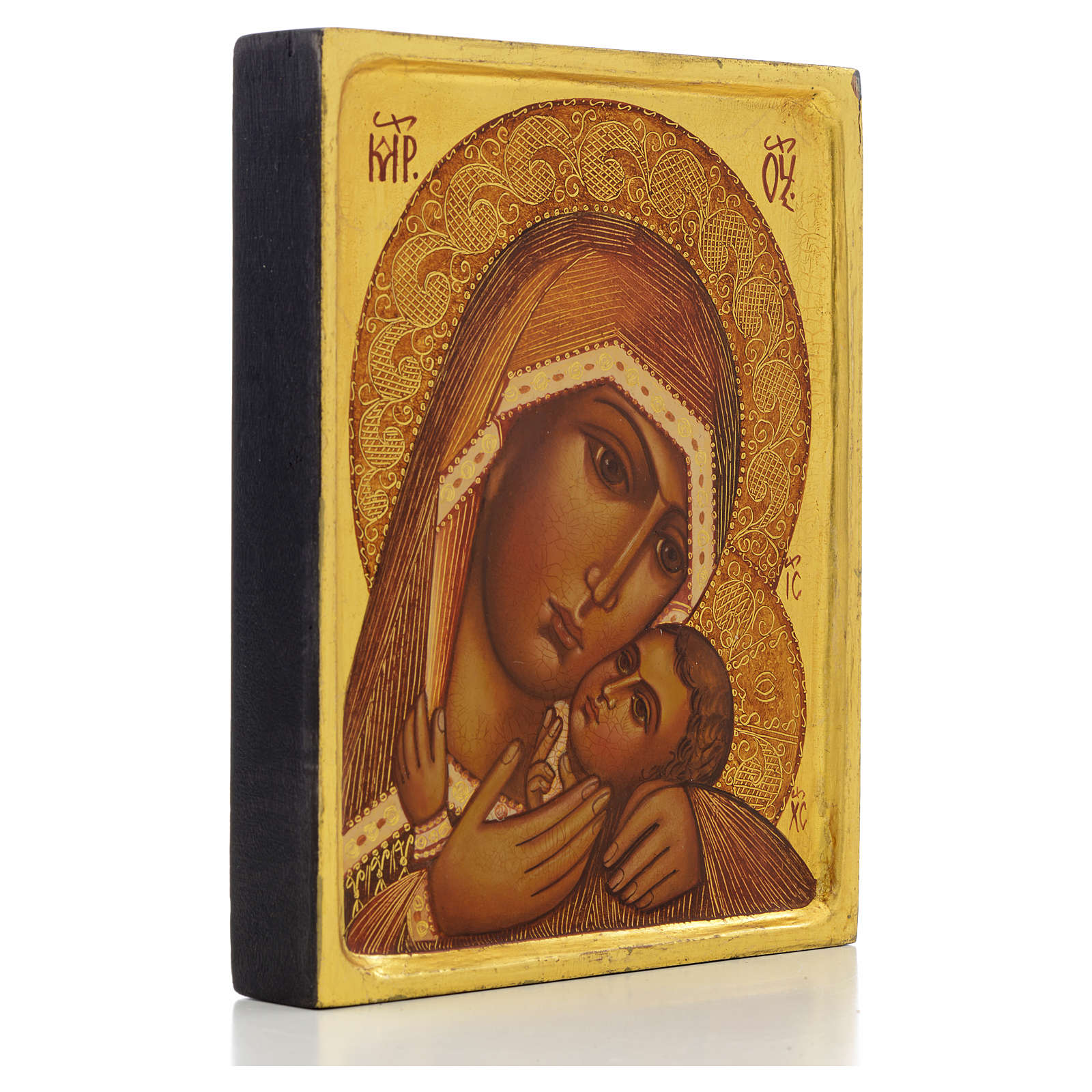 Icono rusa Virgen de Korsun borde alto 4