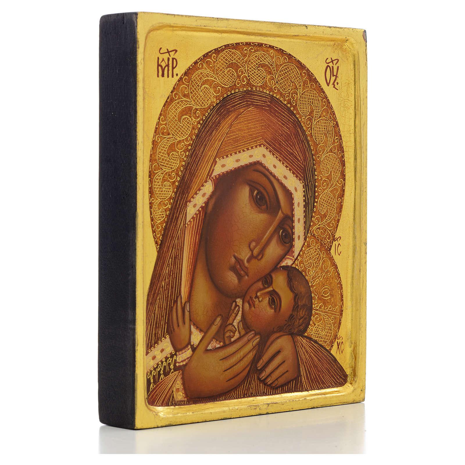 Icona russa Madonna di Korsun bordo alto 4