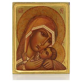 Icona russa Madonna di Korsun bordo alto s1