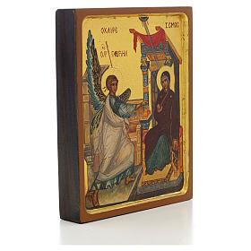 Icono ruso pintado Anunciación borde alto s2