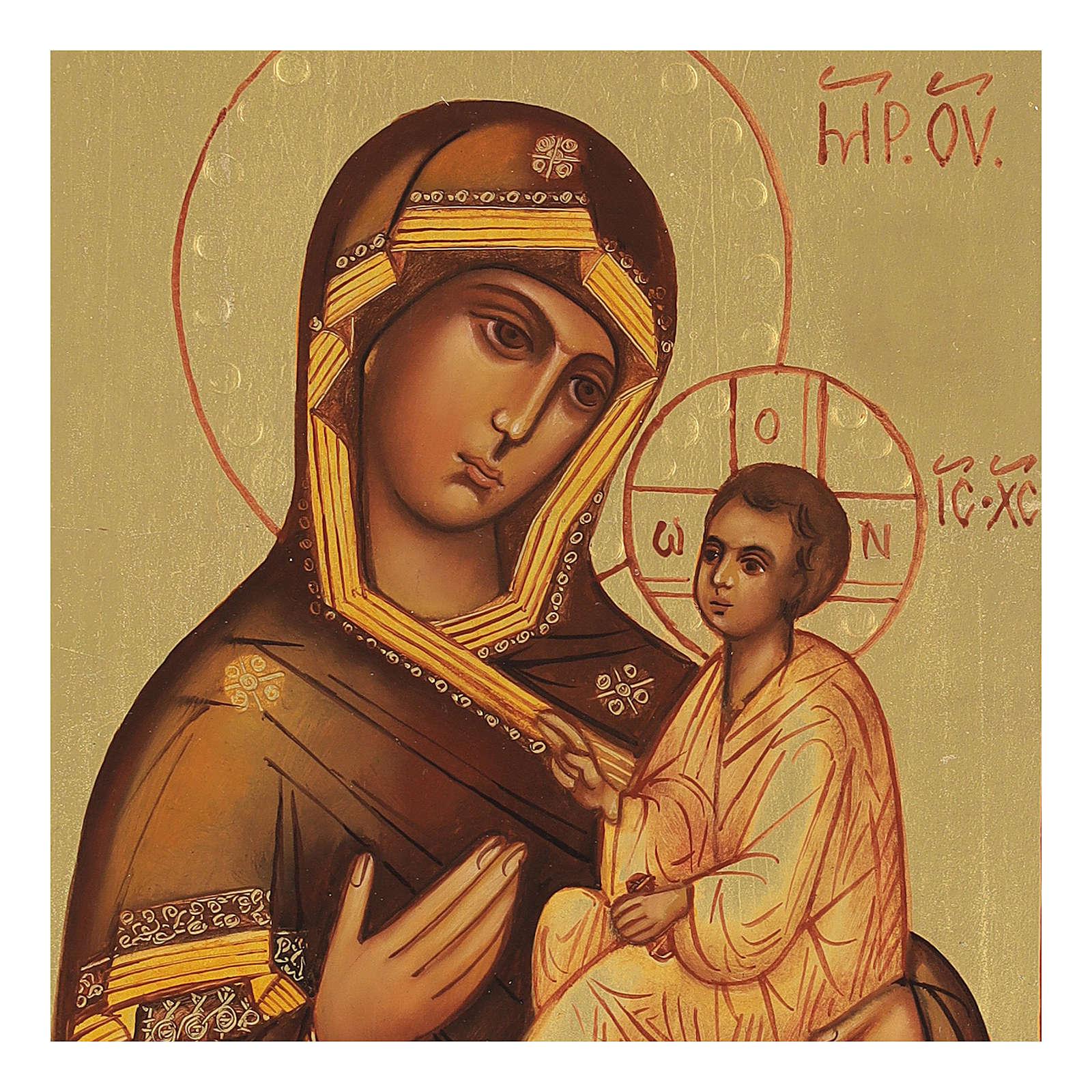 Icono rusa Virgen de Tikhvin 4