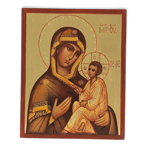 Icono rusa Virgen de Tikhvin 1
