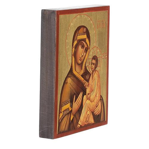 Icono rusa Virgen de Tikhvin 3
