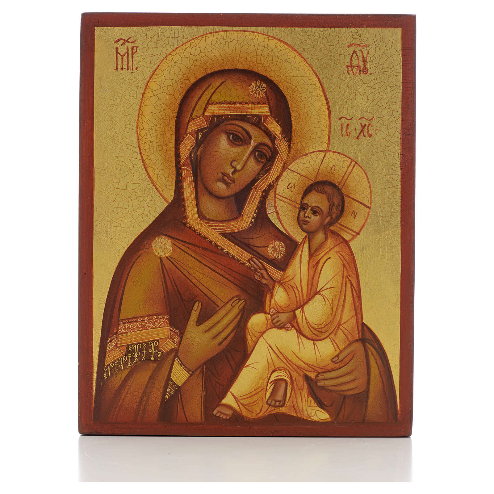 Icona russa Madonna di Tikhvin 4