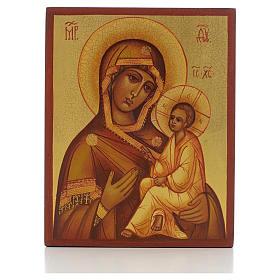 Icona russa Madonna di Tikhvin s1
