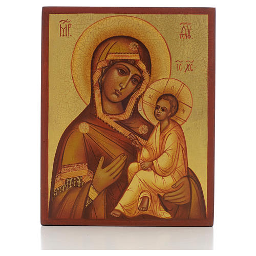 Icona russa Madonna di Tikhvin 1