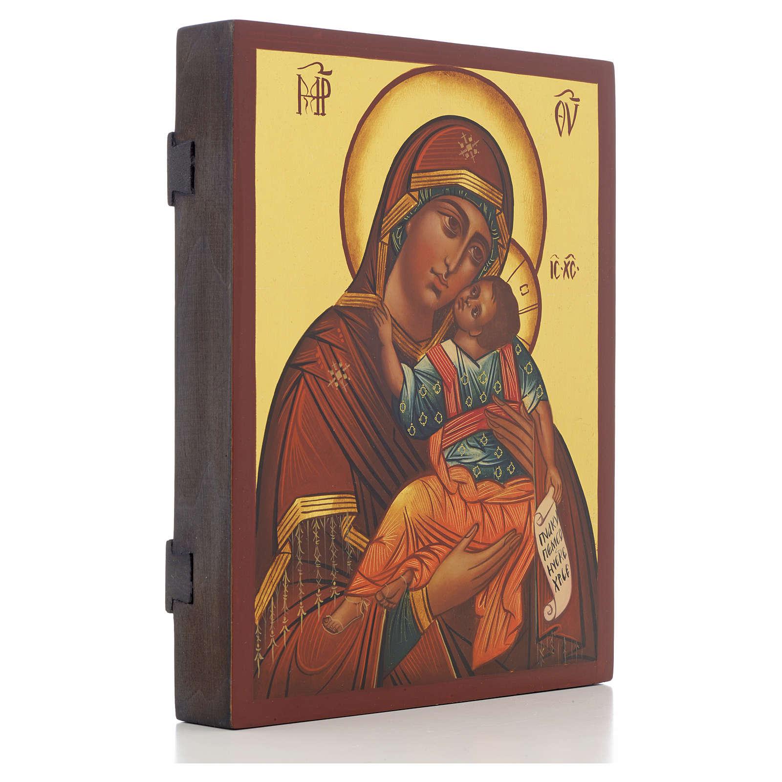 Icona russa Madonna Glycophilousa 21x17 cm 4
