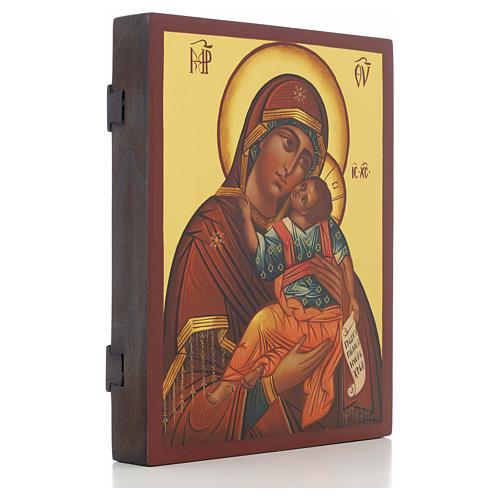 Icona russa Madonna Glycophilousa 21x17 cm 2