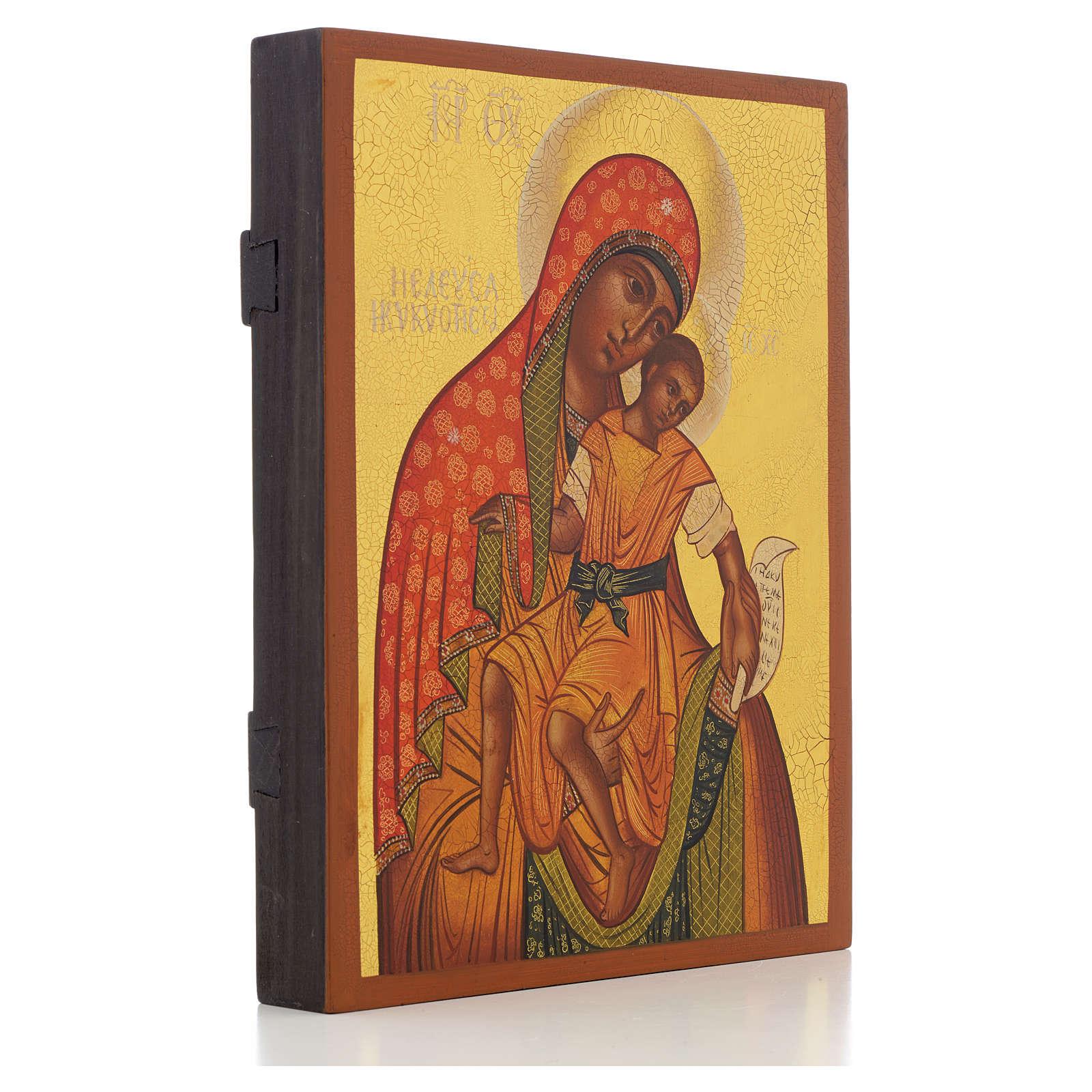 Icona russa Madonna di Kykkos 21x17 cm 4