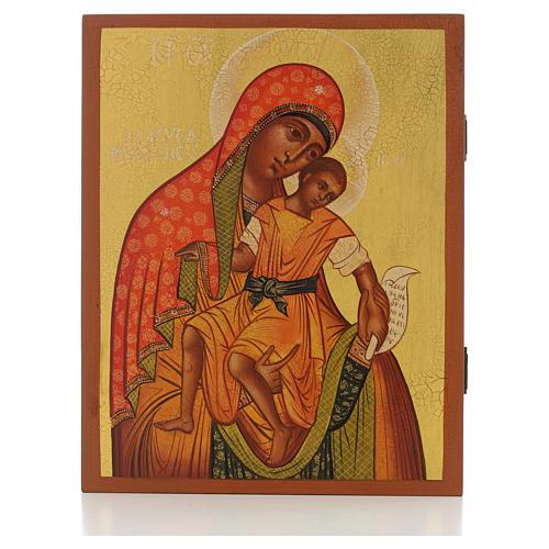 Icona russa Madonna di Kykkos 21x17 cm 1