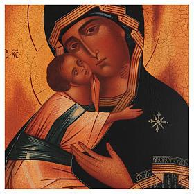 Icona russa Madonna di Vladimir 28x22 cm s2