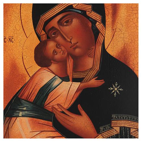 Icona russa Madonna di Vladimir 28x22 cm 2