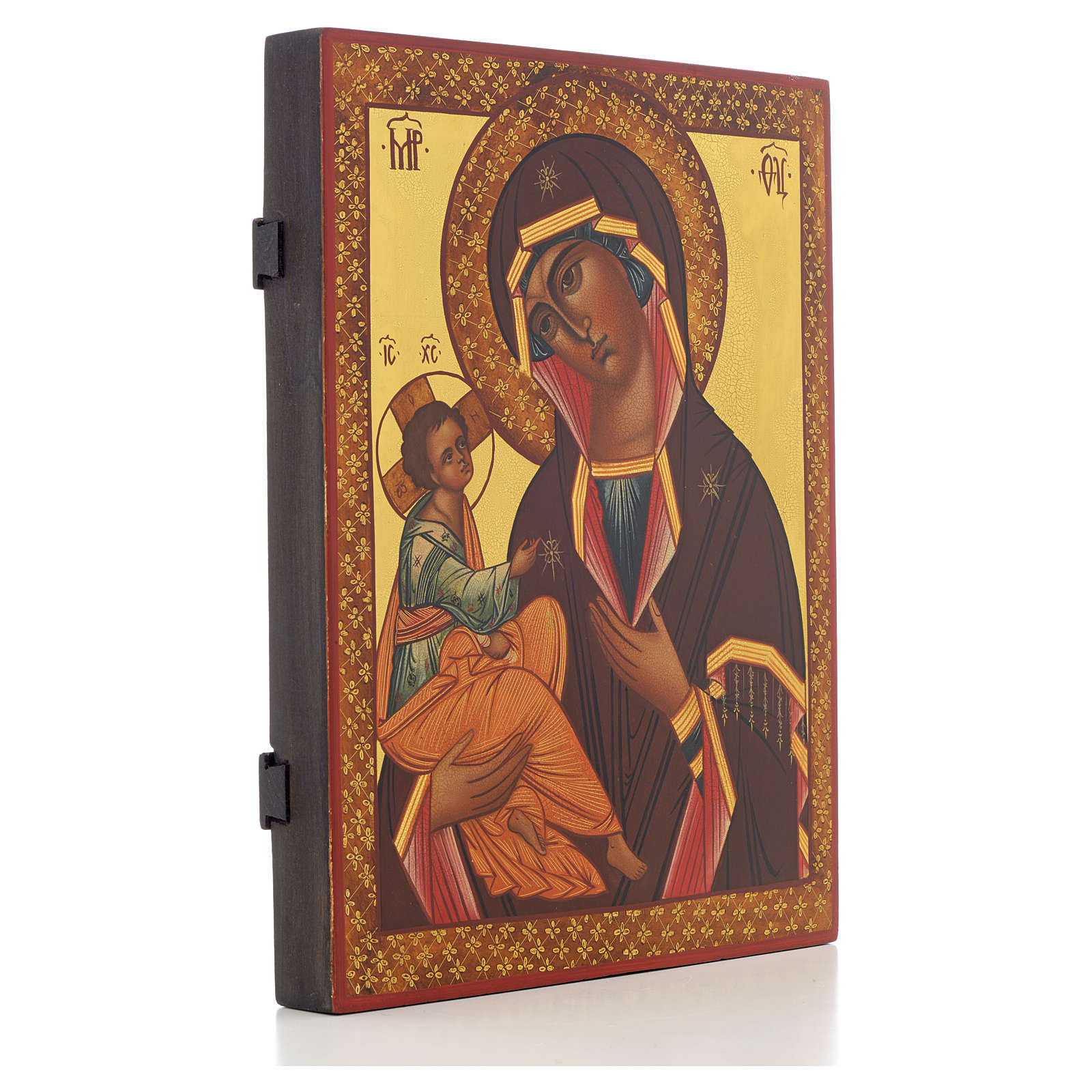 Icone Russe peinte Mère de Dieu de Jérusalem 28x22 4