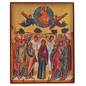 Icona russa dipinta Assunzione di Maria 14x11 s1