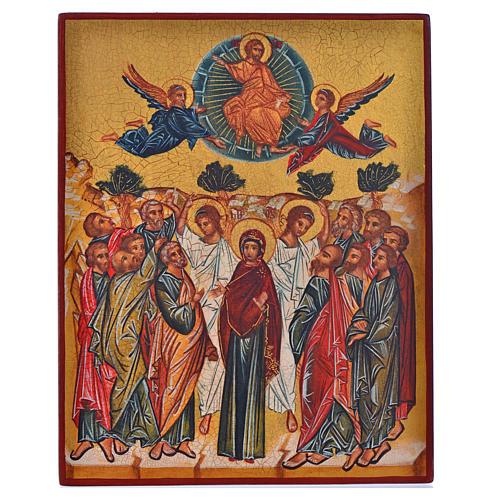Icona russa dipinta Assunzione di Maria 14x11 1