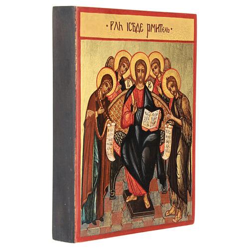 Icône russe peinte Vierge de Deisis 14x10 cm 3