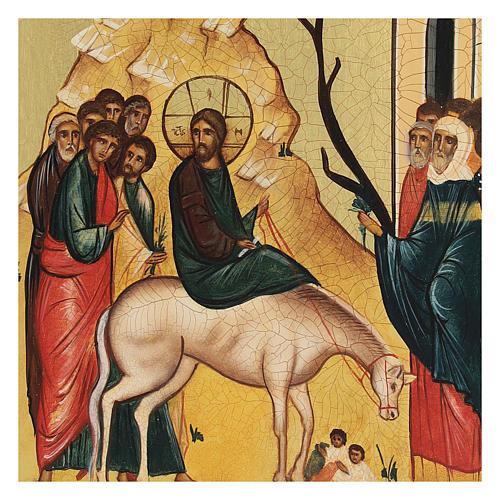 Icona russa L'ingresso di Cristo in Gerusalemme 14x10 cm 2