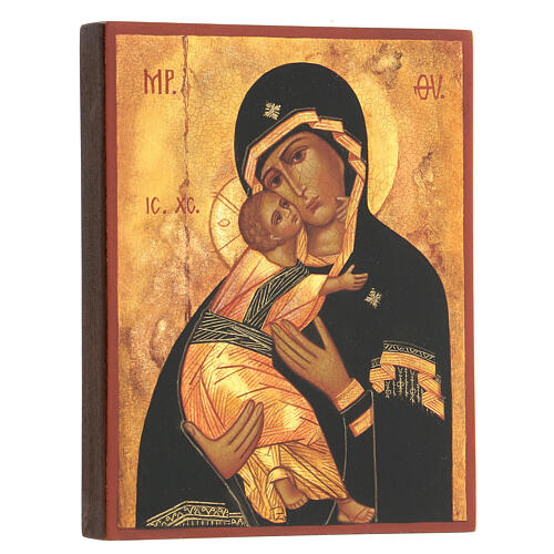 Russian icon, Our Lady of Vladimir 14x10 cm 3