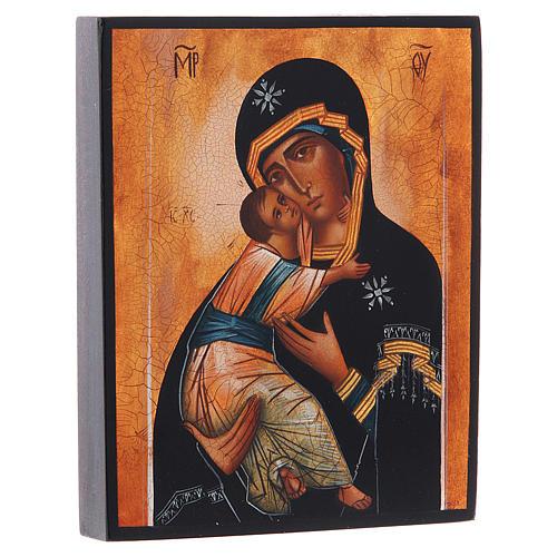 Icona russa Madonna di Vladimir 14x11 2