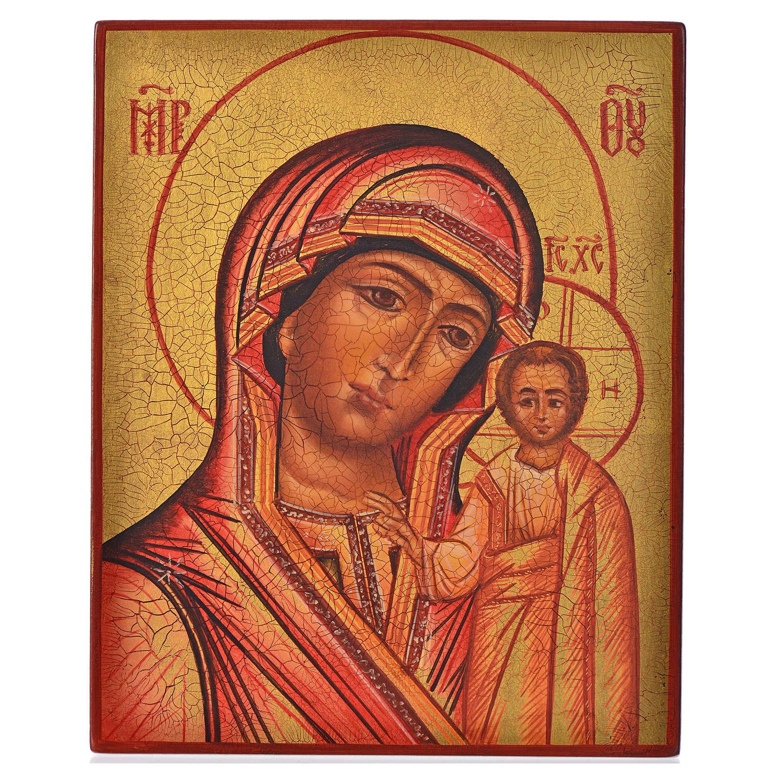Icona russa Madonna di Kazan 14x11 4