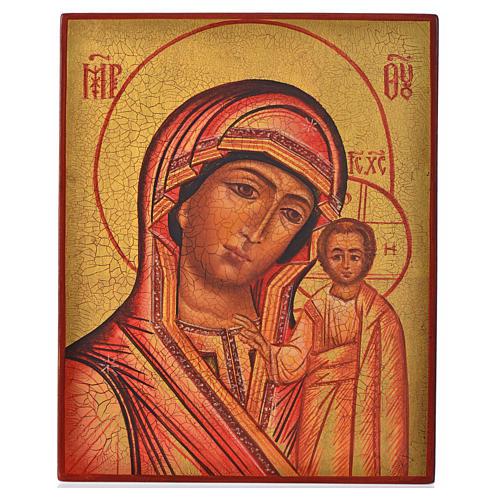 Icona russa Madonna di Kazan 14x11 1