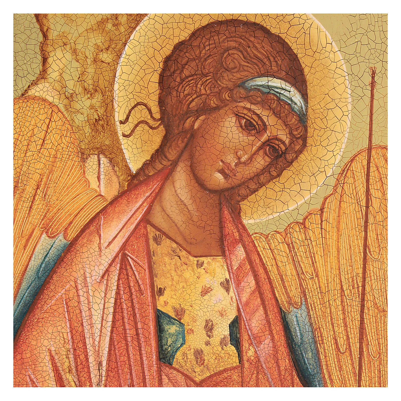Russian icon, Saint Michael of Rublov 14x10 cm 4