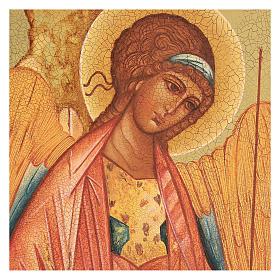 Russian icon, Saint Michael of Rublov 14x10 cm s2